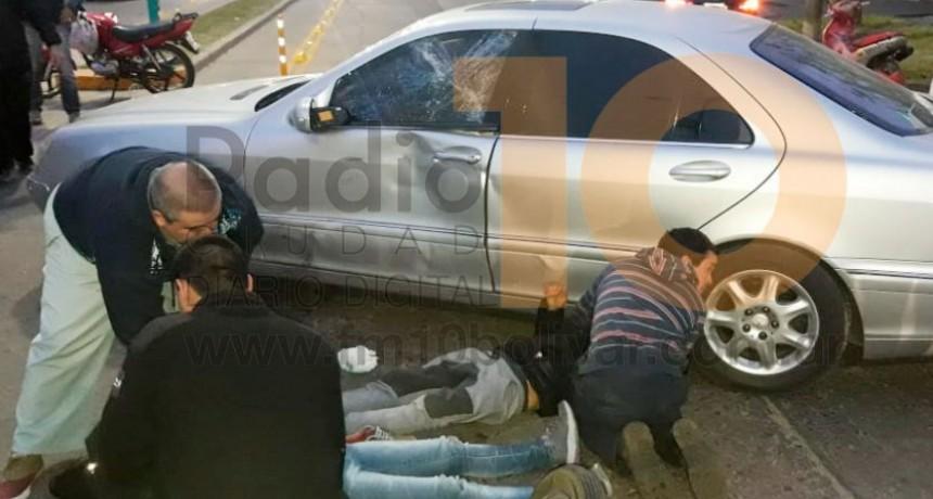 Violento accidente en Tres de Febrero y Saavedra: dos motociclistas fueron hospitalizados
