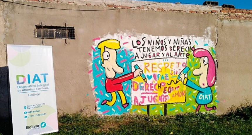El DIAT Bolívar comenzó a pintar murales en los barrios