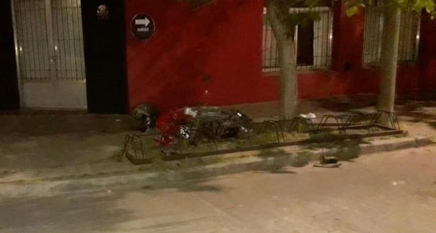 Continua con pronóstico reservado la joven motociclista del accidente producido en la noche del lunes