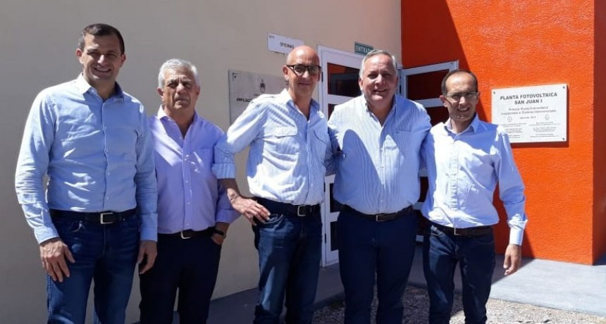 Pisano visitó el parque solar de San Juan