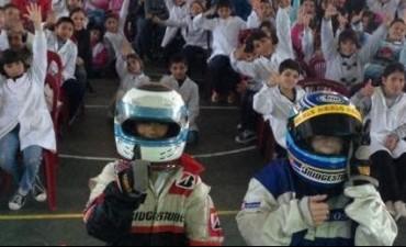 Bolívar: jornada de educación vial entre alumnos y el TC 2000