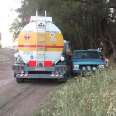Ruta 33: Robaban nafta en la 33 y llegó la Patrulla