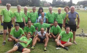 Llegaron los peregrinos que viajaron a Luján en bicicleta