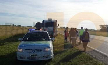 Una mujer fue embestida por un camión en inmediaciones del Monte de los Recuerdos