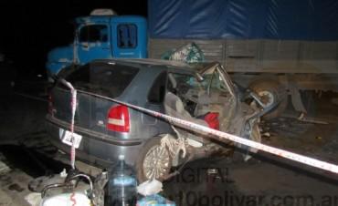 Dos personas heridas en un accidente en la Ruta 205