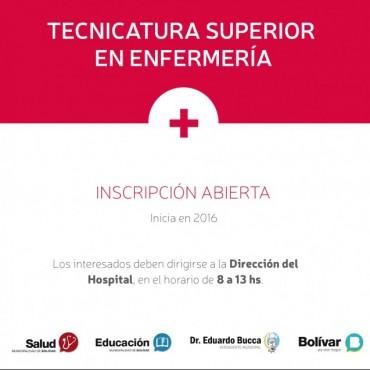 Ya está abierta la inscripción a la carrera de Enfermería