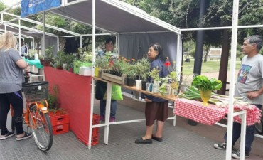 Se realizó la Feria Verde el sábado en la Plaza Alsina