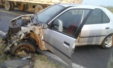Bolivarenses accidentados en la Ruta 205