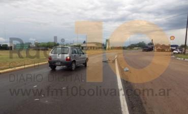Un hombre lesionado en una colisión en la rotonda de la Ruta 226 y Calfucurá