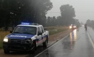 Choque entre un patrullero y un automóvil en la ruta 51