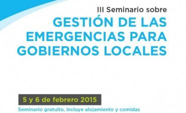 Habrá un Seminario de Gestión de las Emergencias