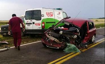Una mujer falleció en violento accidente sobre la ruta 226