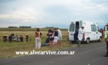 URGENTE: Vuelco en la Ruta Nacional 205, un fallecido