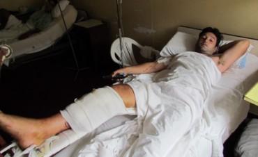 """""""Fue un milagro que los médicos me hayan salvado la pierna"""""""