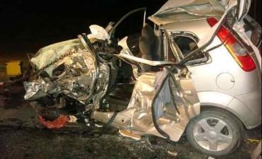 Trágico accidente en el km 201 de la Ruta 3