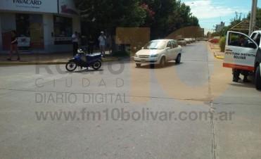 Impacto leve en calle Rondeau y avenida San Martín