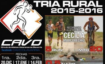 Colonia San Miguel - Olavarría: Segunda Edición Tría Rural 2015/2016 organizada por el Círculo de Atletas Veteranos de Olavarría