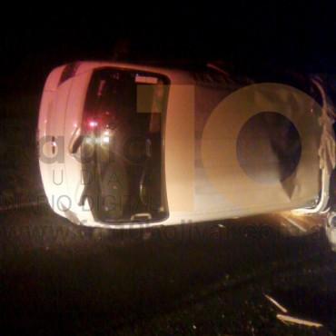 Vuelco de un camión en la ruta 226, terminó con tres persona hospitalizadas