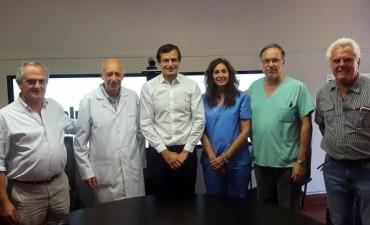 Hospital 'Capredoni': esta mañana Bucca presentó a las nuevas autoridades del equipo de salud