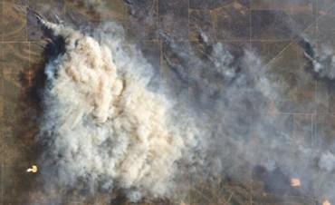 Las impresionantes imágenes de la NASA de los incendios que afectan La Pampa, Río Negro y el sur bonaerense