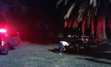 Un joven resultó herido tras tratar de bajar una pelota de una palmera