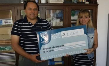 Se entregaron los premios de diciembre de Tarjeta Azul del Club Independiente