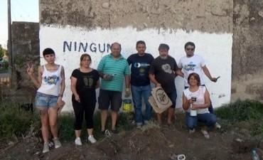 La Campora pintó un mural en Barrio Palermo