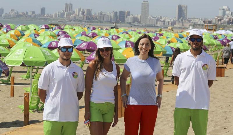 Vidal presentó las playas gratuitas de Mar del Plata