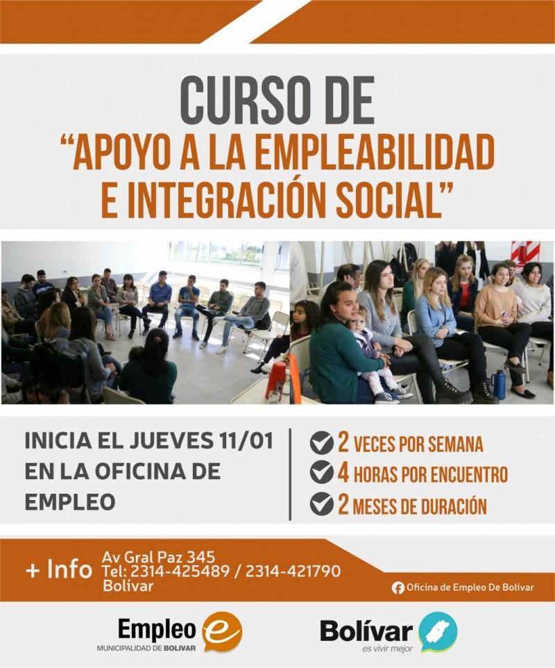 Empieza un curso de apoyo a la Empleabilidad e integración social en empleo