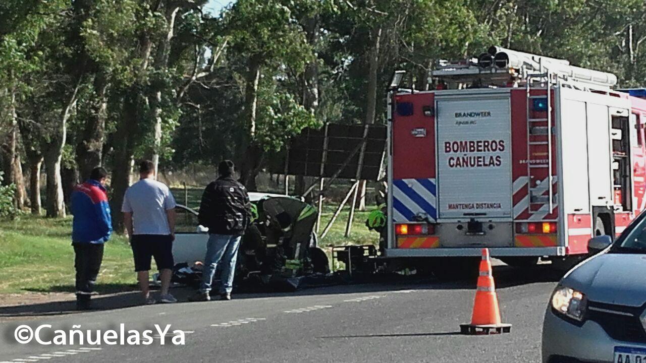 Un muerto en choque frontal en la Ruta 205