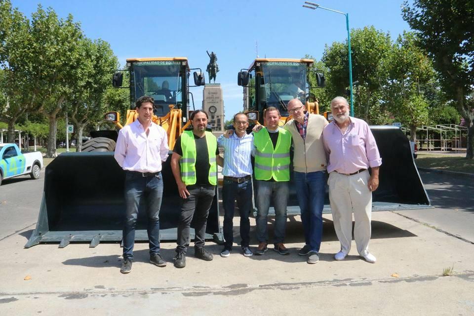 Marcos Pisano presentó la nueva maquinaria municipal