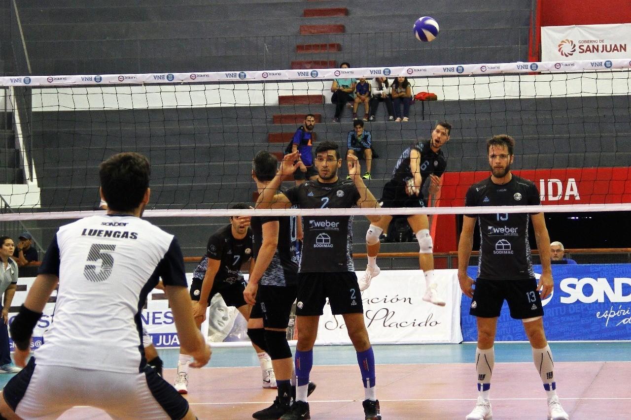 Personal Bolívar cayó en cinco sets ante Obras de San Juan