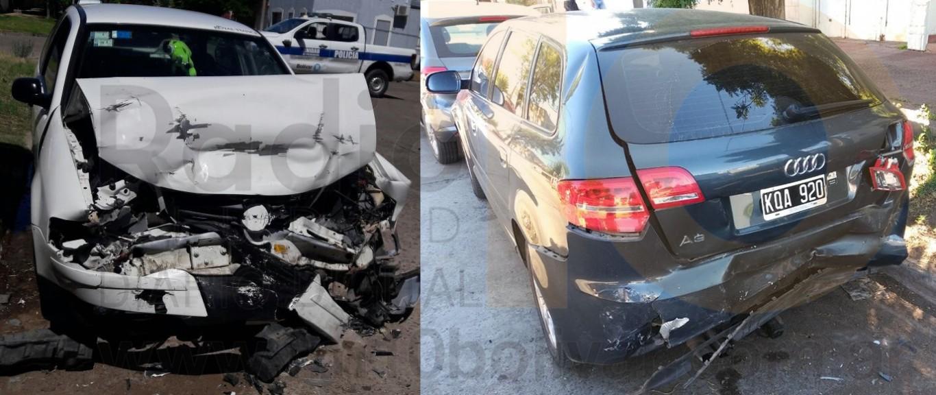 Dorrego y Falucho: Un Volkswagen Gol impactó contra tres vehículos estacionados