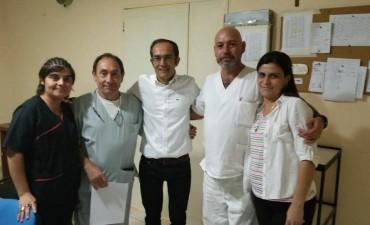 Pisano recibió el 2018 con los trabajadores de guardia en los hospitales