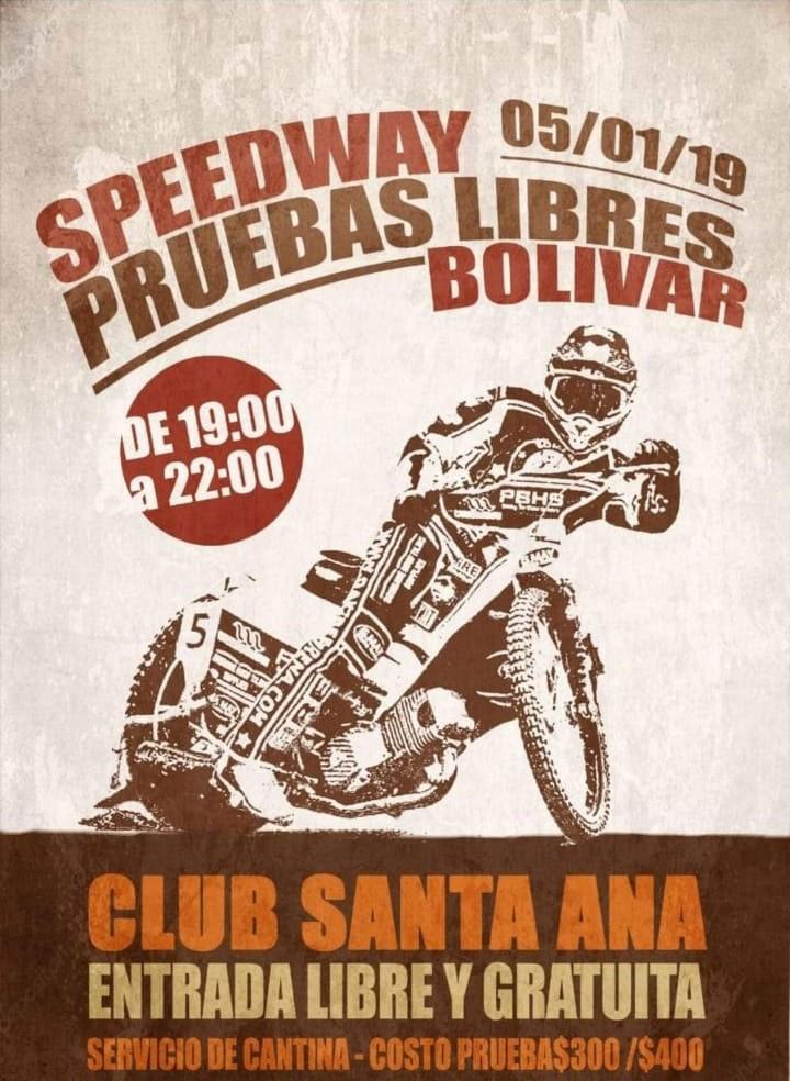 Vuelven las pruebas libres de speedway a Club Santa Ana
