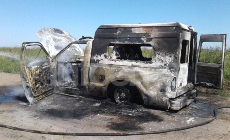 Recalde: Se incendió una ambulancia municipal
