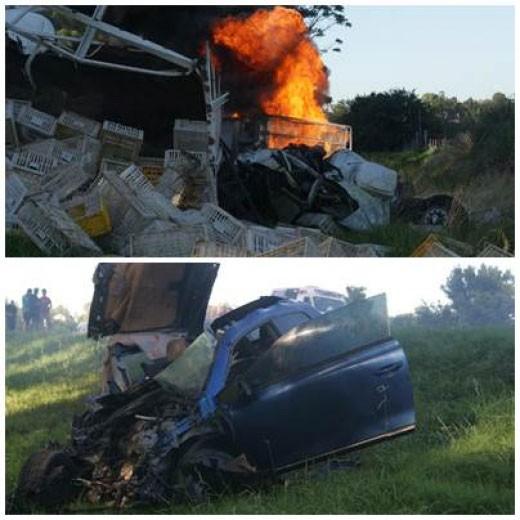 Triple choche trágico en Ruta 205 entre Lobos y Roque Pérez
