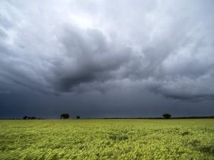 A pesar de la fuerte tormenta eléctrica, la lluvia no superó los 10 milímetros