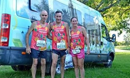 Silvina Arredondo comenzó el año participando del maratón de reyes en Concordia