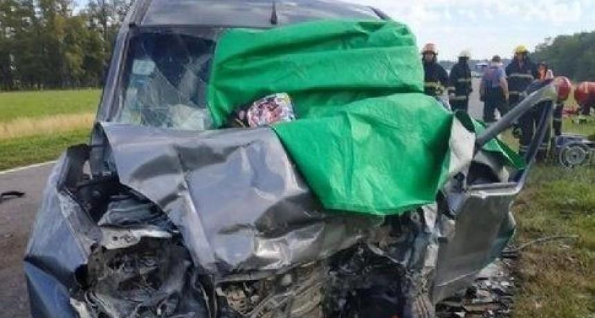 Ruta 5: Un muerto y cinco heridos tras un choque frontal