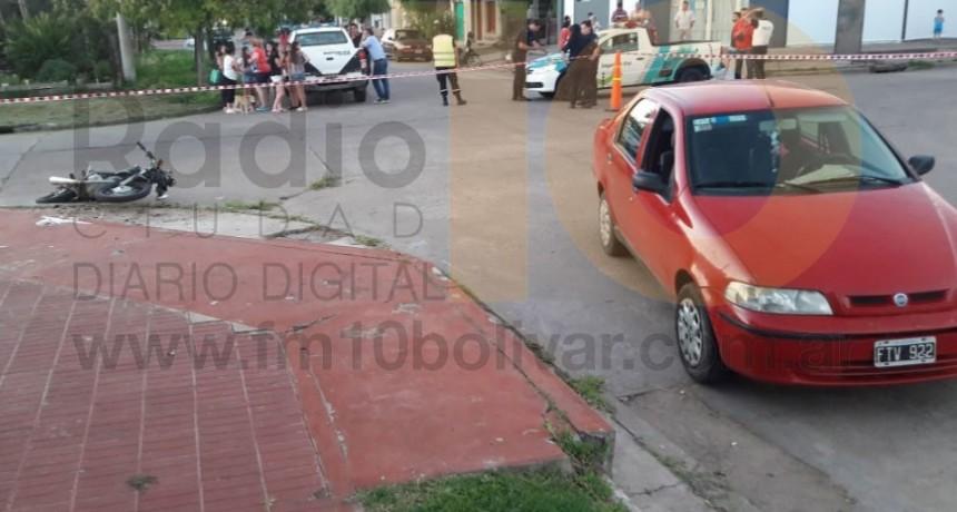 Impacto en Larrea y Sáenz Peña: Un motociclista debió ser hospitalizado