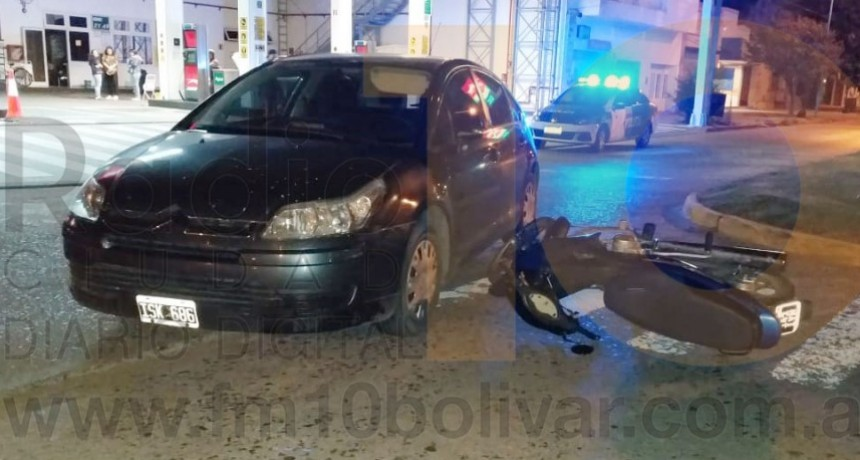 Un motociclista fue trasladado al hospital a raíz de un accidente