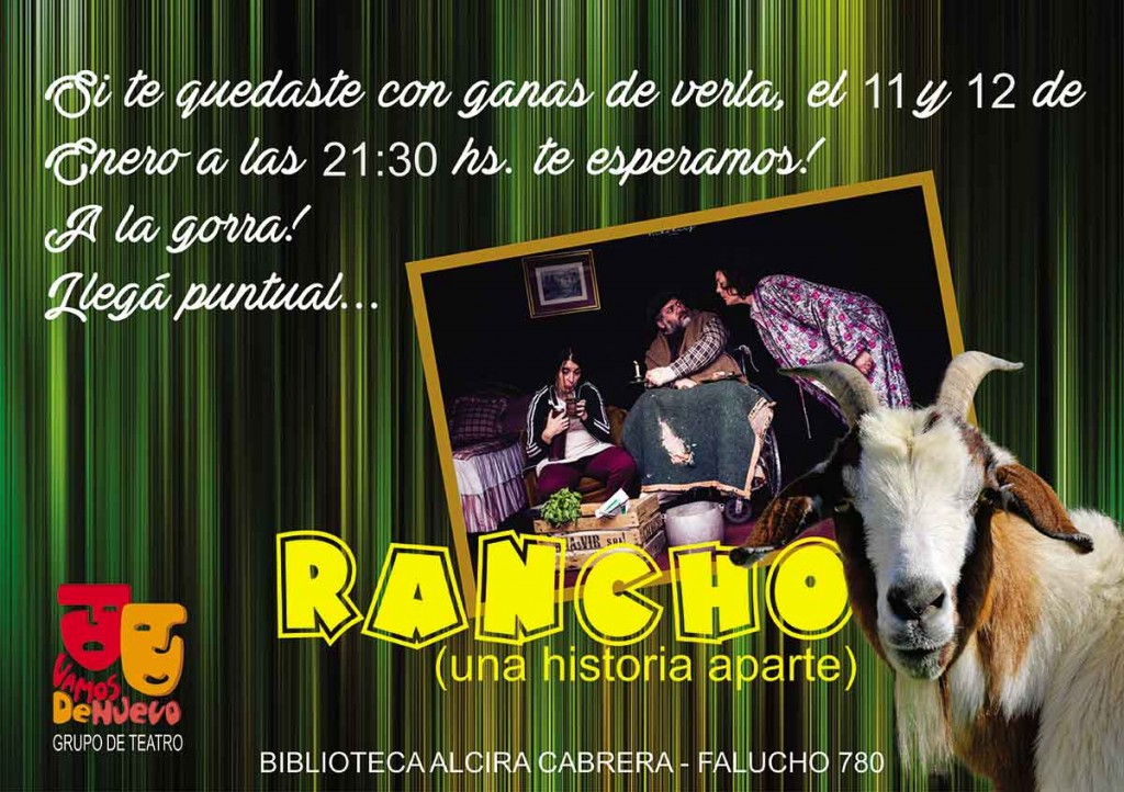 Vamos de Nuevo presentará nuevamente RANCHO este fin de semana