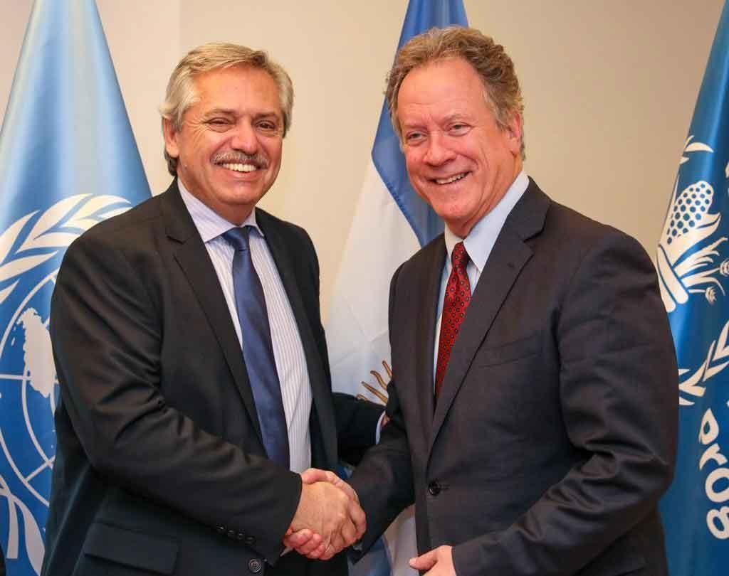 El presidente Alberto Fernández se reunió con el director del Programa Mundial de Alimentos