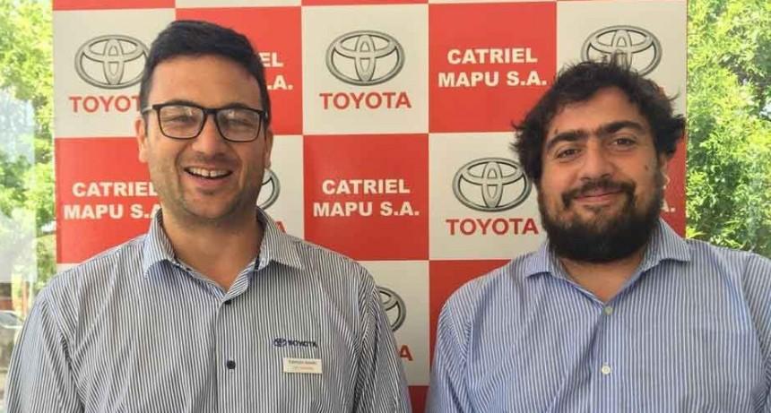 Catriel Mapu S.A llegó a Bolívar para presentar los unidades Toyota para este 2020