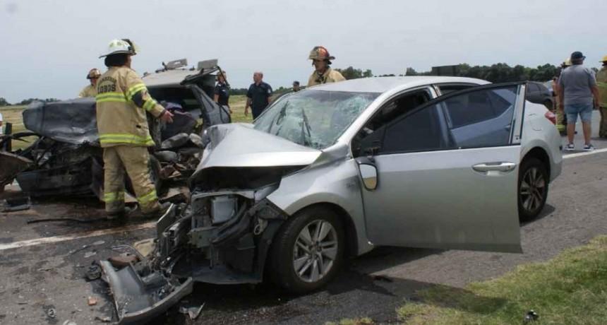 Lobos: Choque frontal en Ruta 205: Varios lesionados de consideración