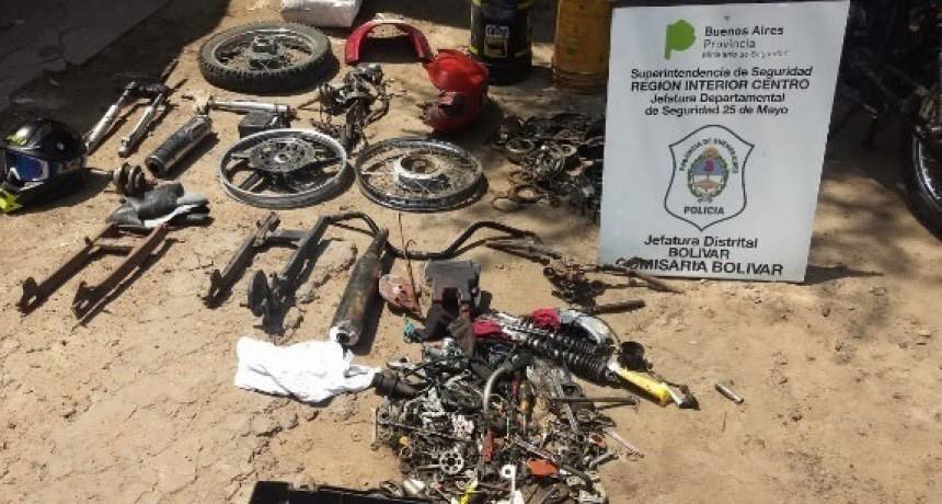 Policia local esclareció una falsa denuncia y realizó allanamientos por robo de motovehículo