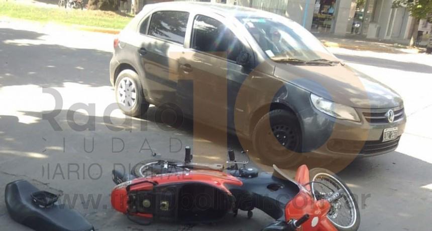 Accidente en Av. San Martín y calle Viamonte; sin mayores consecuencias