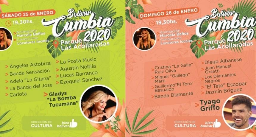 La Bomba Tucumana y Tyago Griffo en la tercera edición del Bolívar Cumbia