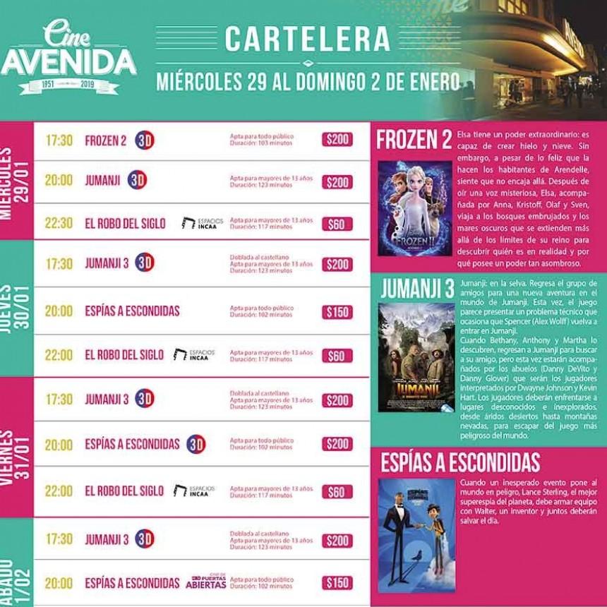 Cine Avenida; Cartelera para todos los gustos